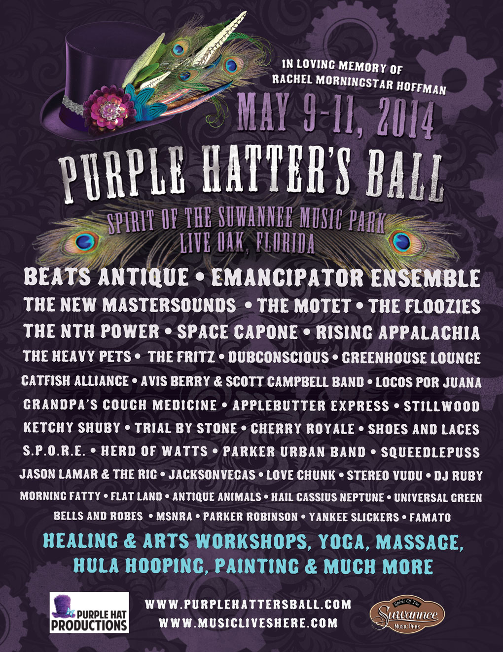 Purple Hatter's Ball adds The Motet, The Floozies, The Fritz and more