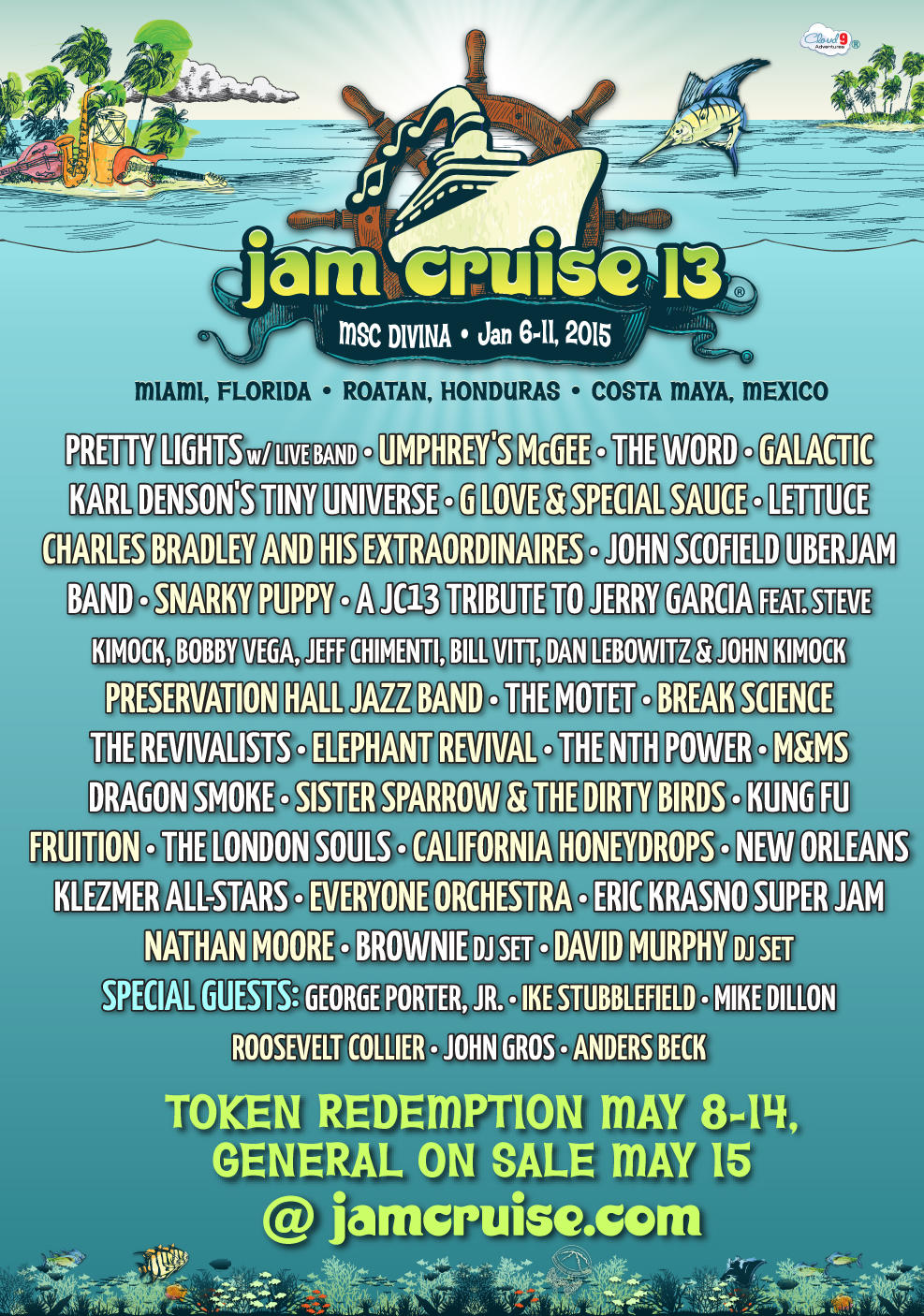 Jam Cruise 13 Announces 2015 Artist Lineup