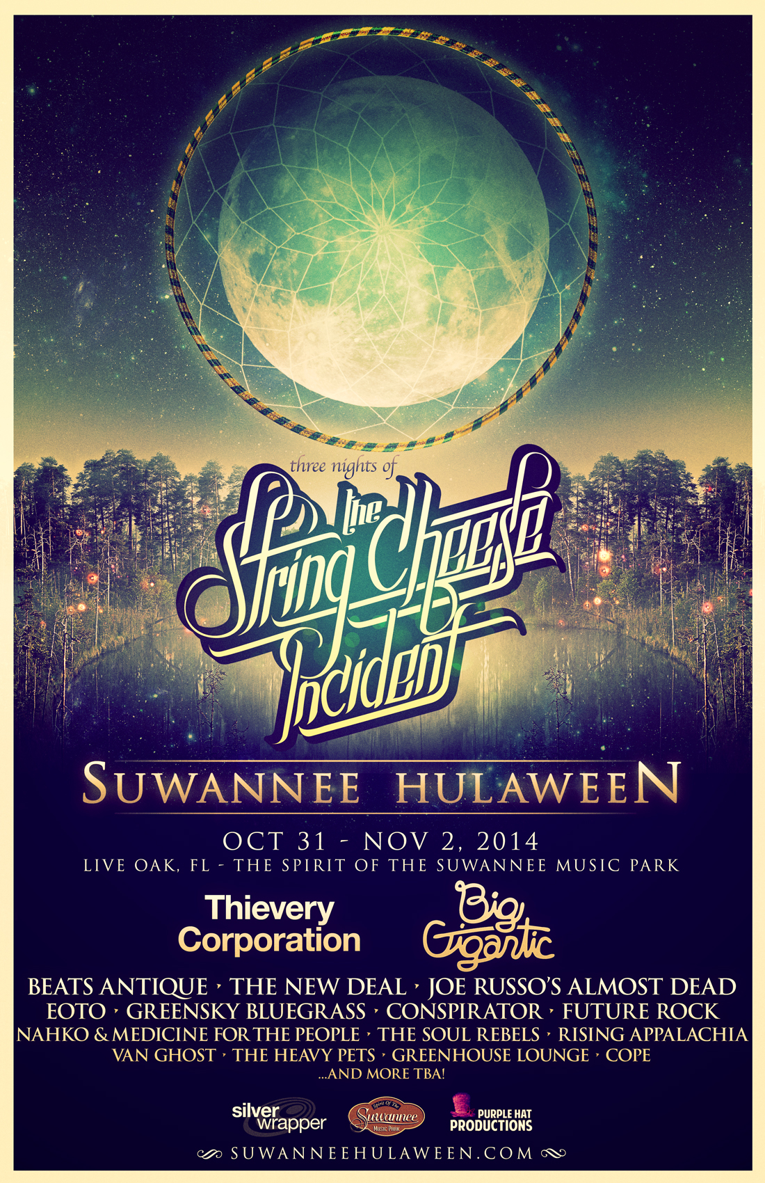 INITIAL LINE UP IS UNVEILED FOR THE SECOND ANNUAL STRING CHEESE INCIDENT SUWANNEE HULAWEEEN