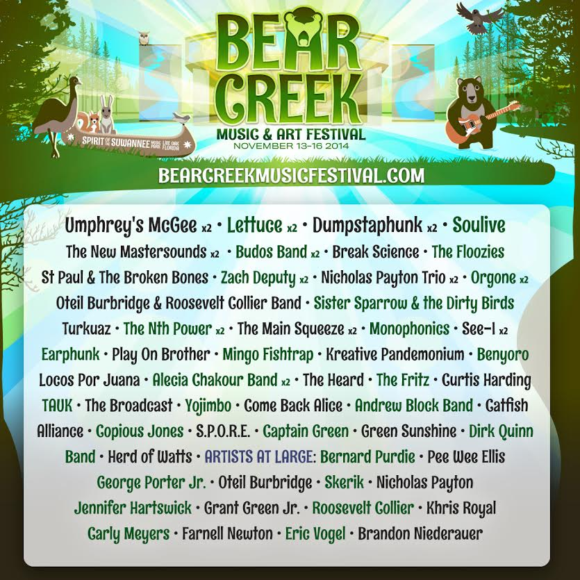 Bear Creek Music & Art Festival Adds Soulive, Zach Deputy, The Floozies & more!