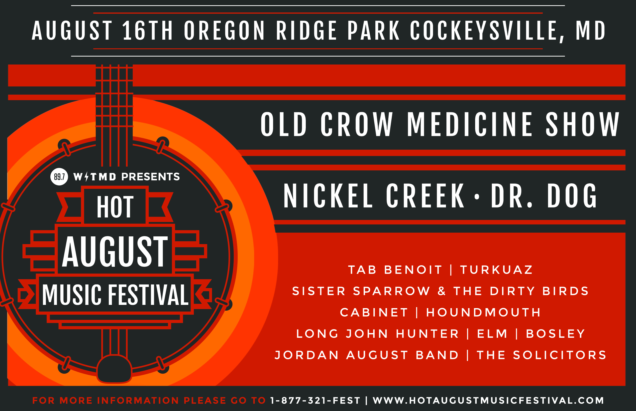 Hot August Music Festival Preview: Aug 16 Cockeysville, MD