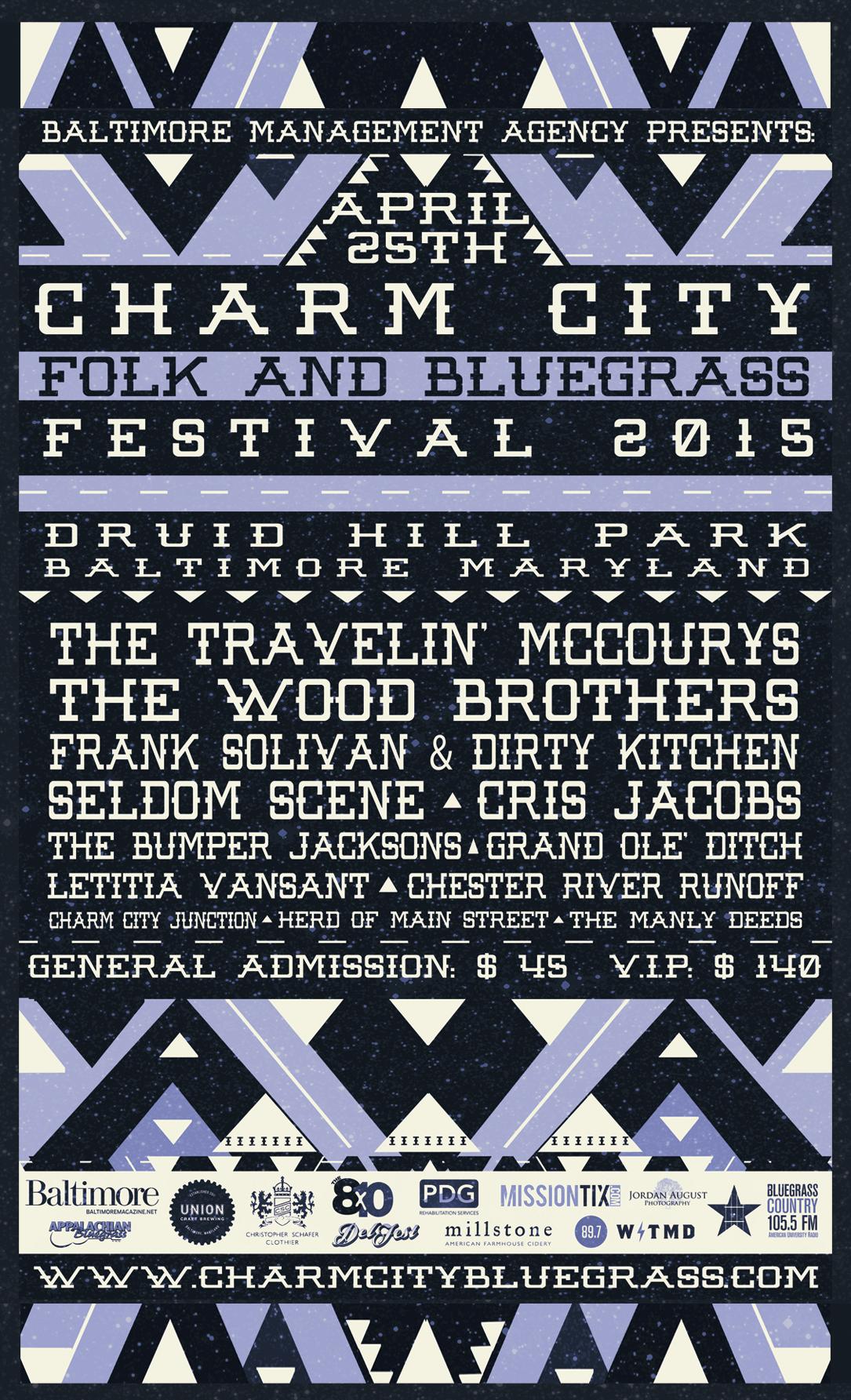 CHARM CITY FOLK AND BLUEGRASS FESTIVAL ANNOUNCES FULL LINEUP