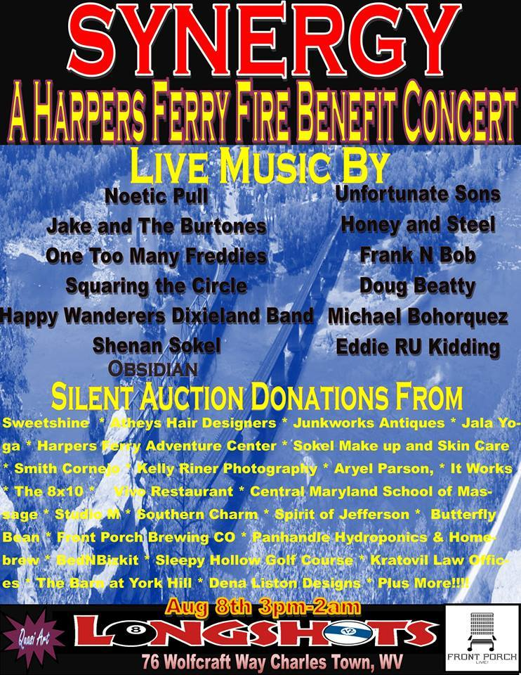 Synergy: A Concert and Silent Auction to Benefit Those Affected by the Harper's Ferry Fires- Sat. Aug 8