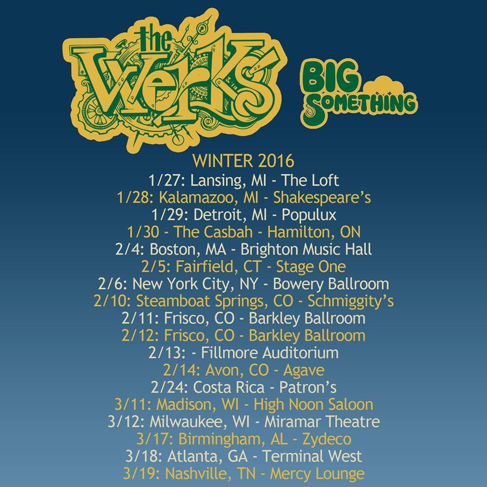 Dino Dimitrouleas Takes Hiatus From The Werks, The Werks Announce Winter Tour With Big Something