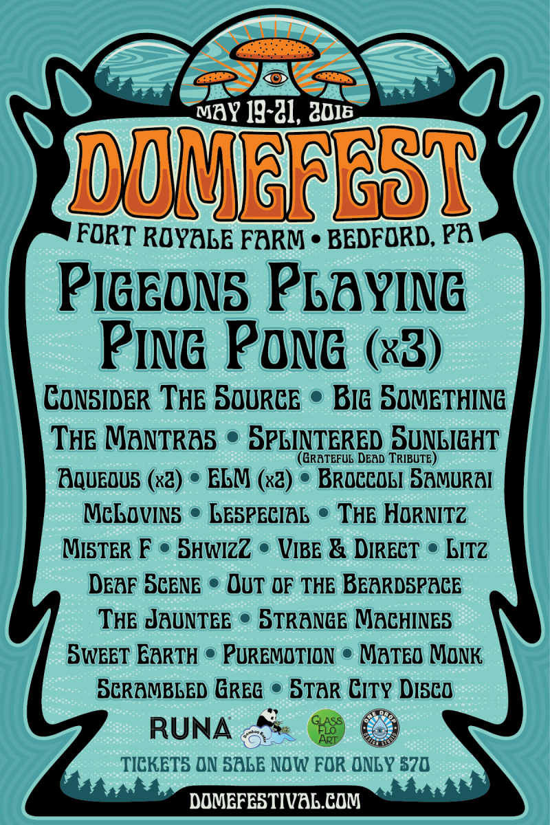 Pigeons Playing Ping Pong Announces Domefest's Full Lineup