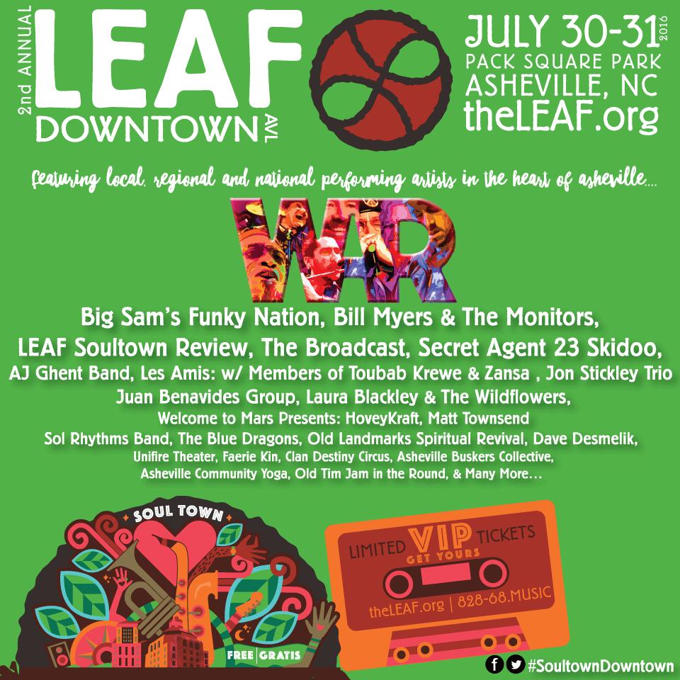 LEAF Announces 2ndAnnual LEAF Downtown Theme & Lineup!
