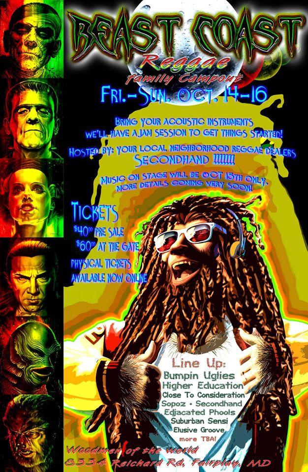 Beast Coast Reggae Festival Preview: Oct 14-16, 2016, Fairplay, MD