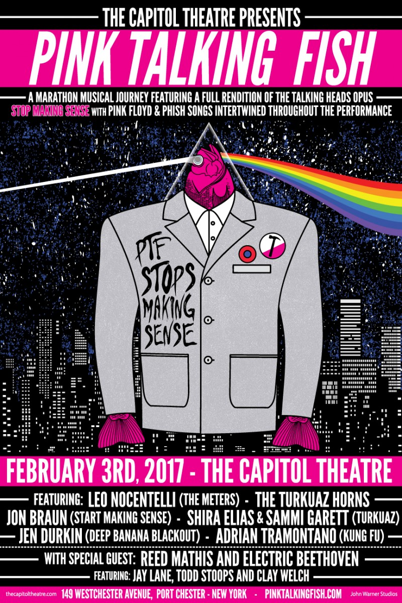 Interview: AJ talks to Pink Talking Fish about Feb 3 show at The Capitol Theatre, Port Chester, NY
