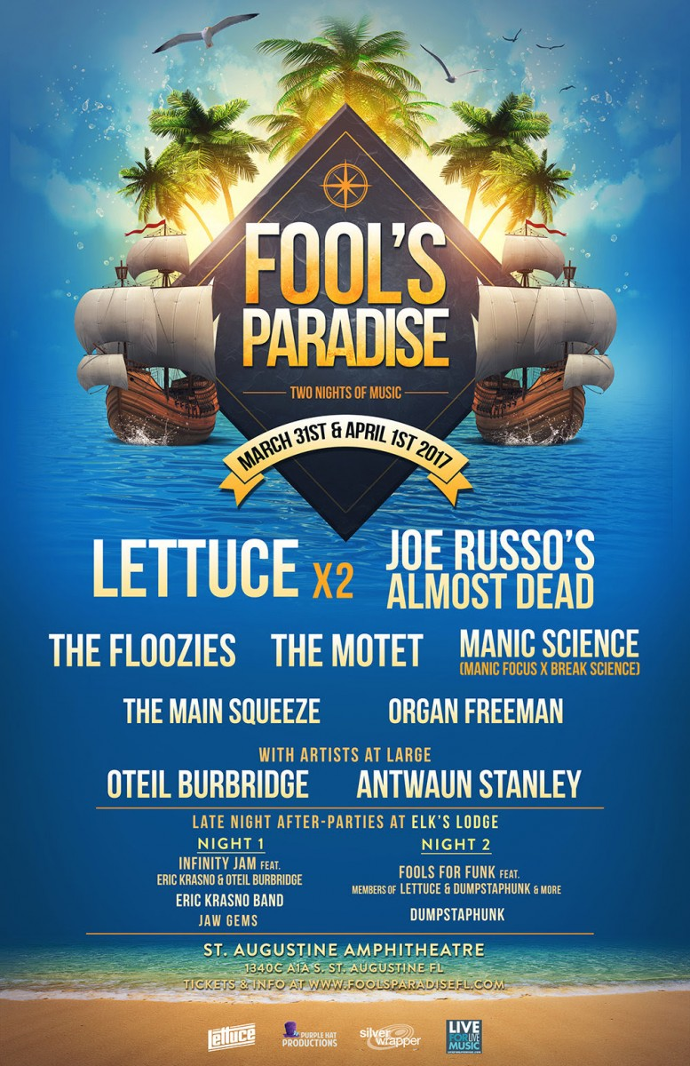 FOOL'S PARADISE REVEALS ADDITIONAL ARTISTS, DAILY LINEUPS, & LATE NIGHT SERIES