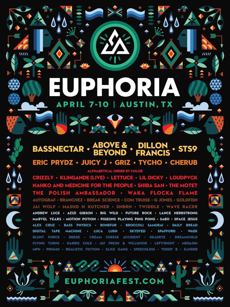 Preview: Euphoria Festival April 7-10, Austin, TX