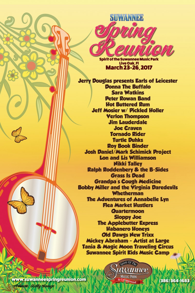 Vassar Clements Sunday Added to Suwannee Spring Reunion March 23 – 26 at Spirit of the Suwannee Music Park