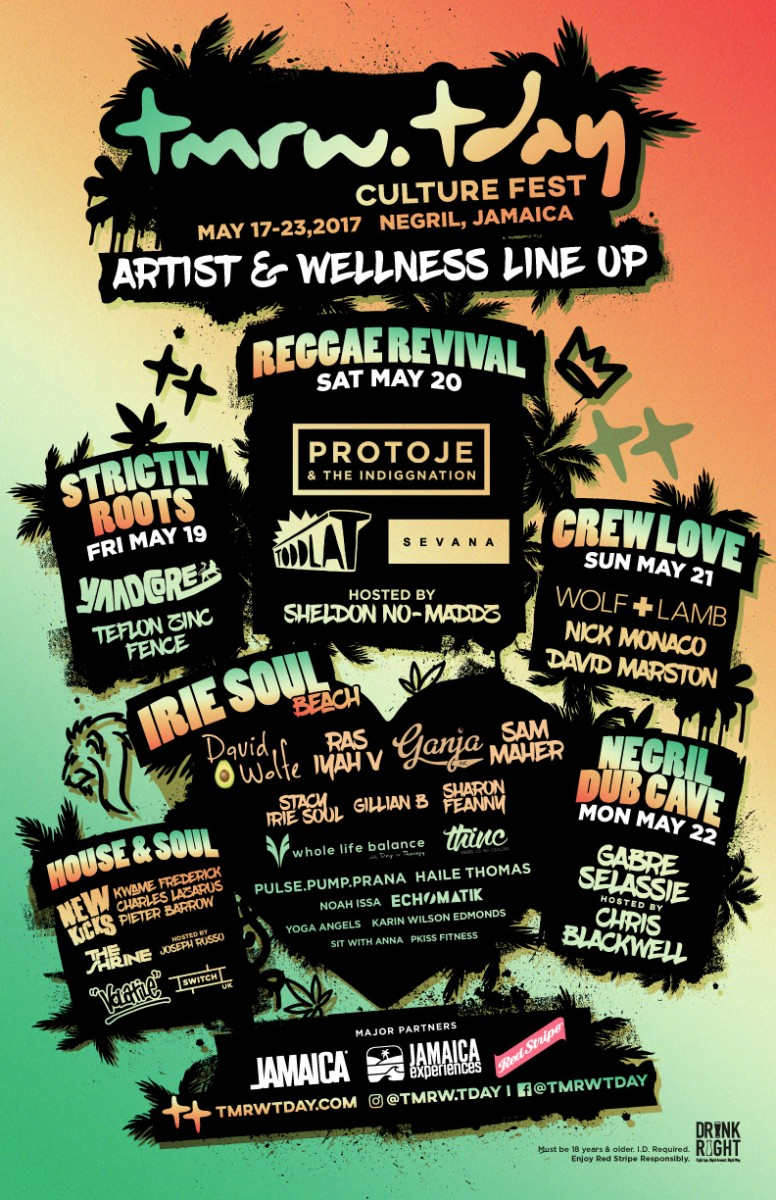 Preview: Tmrw.Tday Culture Fest May 17-23, Negril, Jamaica