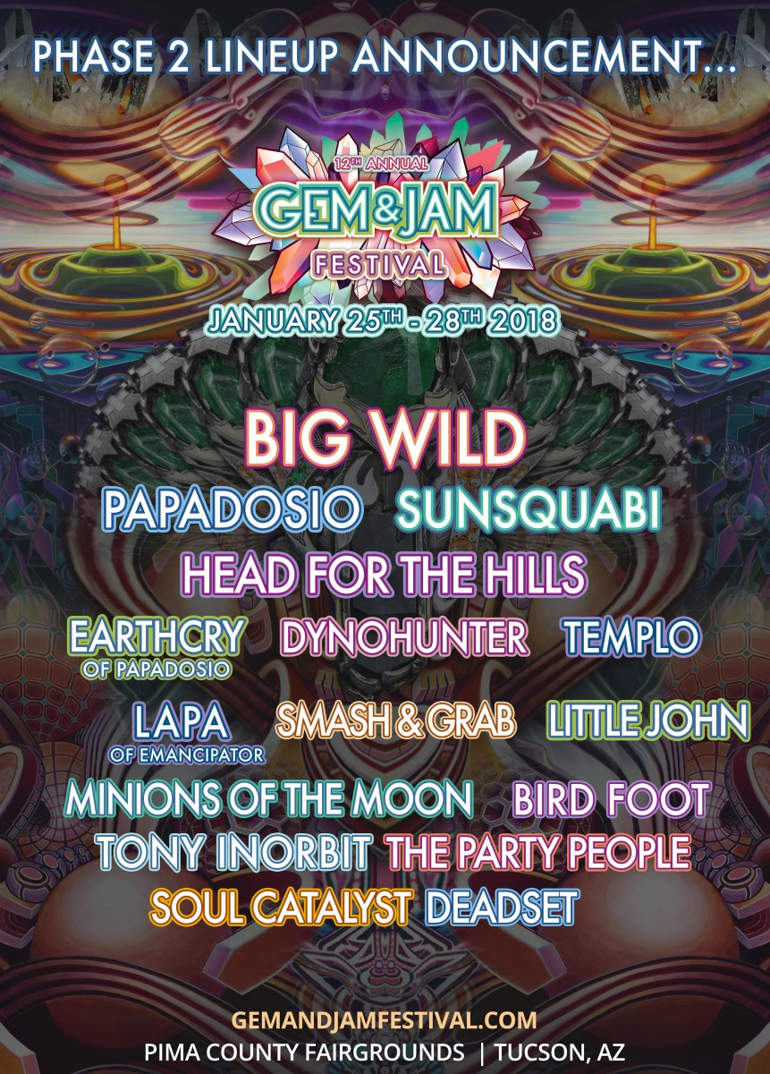 Gem & Jam Announces Phase 2 Lineup