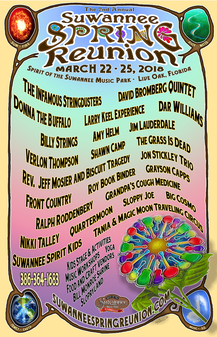 The Jamwich's First Look at Suwannee Spring Reunion March 22-25, 2018!