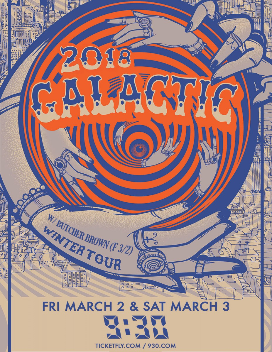 Galactic at 9:30 Club March 2 & 3 Ticket Giveaway Contest