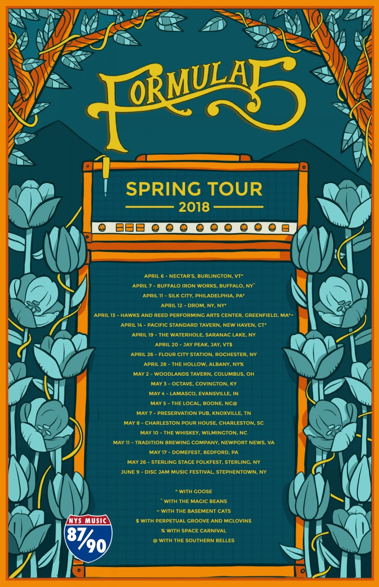Formula 5 Announces 2018 Spring Tour,  Lineup for Rock the Dock Festival in Lake George, NY