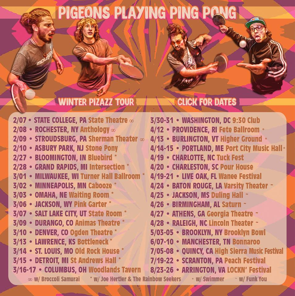 Pigeons Playing Ping Pong Released Pro-Shot Video of Boulder Theater show in Anticipation of Colorado Tour – STARTS TONIGHT!