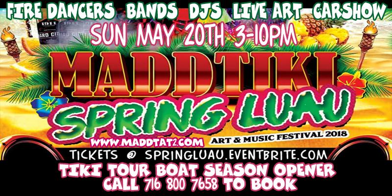Mark Your Calendars for MADD TIKI SPRING LUAU – May 20th, Buffalo, NY