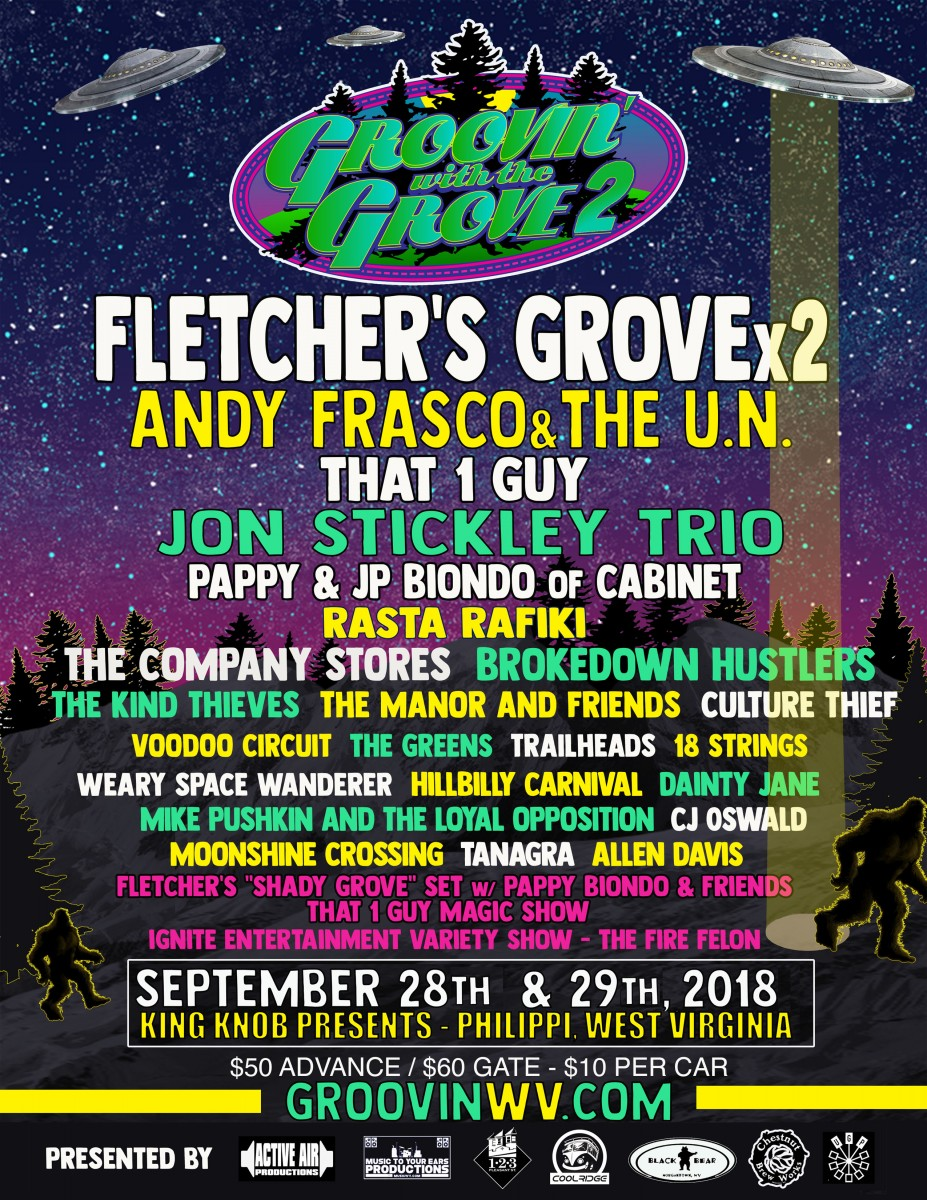 Get Your Groove on at Groovin' With the Grove – Sept 28 & 29, 2018 in Philippi, WV