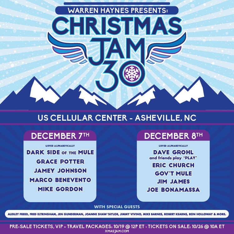 What's Up Weekly – Dec. 03-09 – Christmas Jam 30, Boogie in the Bungalow 10, Gypsy Sally's Holiday Hoedown & more!