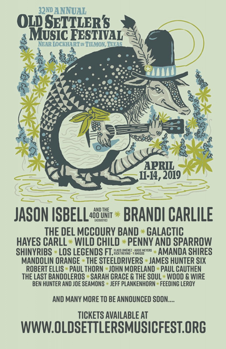 Jason Isbell and the 400 Unit and Brandi Carlile to Headline Upcoming Old Settler's Music Festival April 11-14, 2019