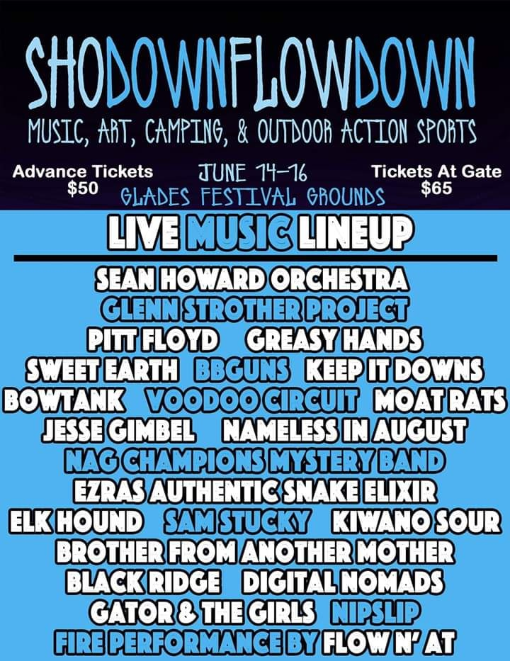 What's Up Weekly – Jun 10-16 – Shodown Flowdown, Mountain Jam, Duck Creek Log Jam & more!