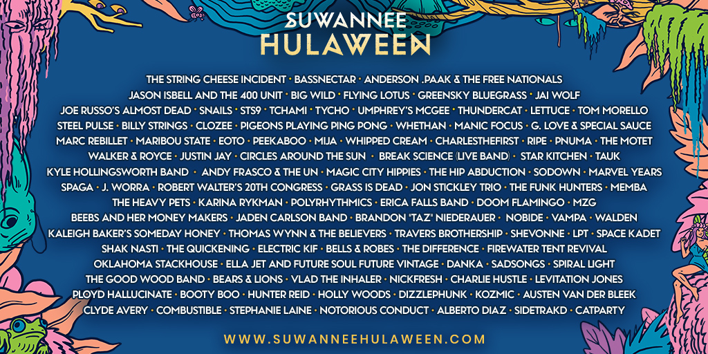 End Your Festival Season Right – Peep the Hulaween Music Schedule and Make Your Plans