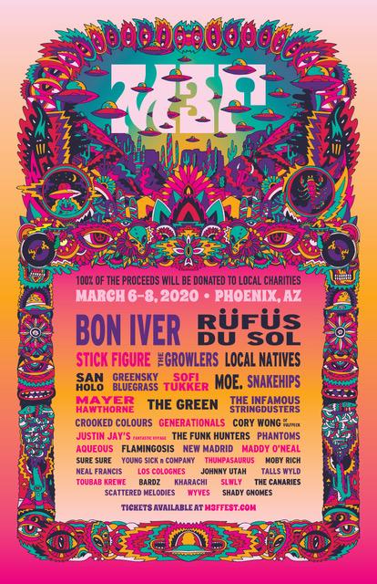 M3F Fest Announcing Bon Iver, Rufus Du Sol and Stick Figure Among 2020's Headliners!
