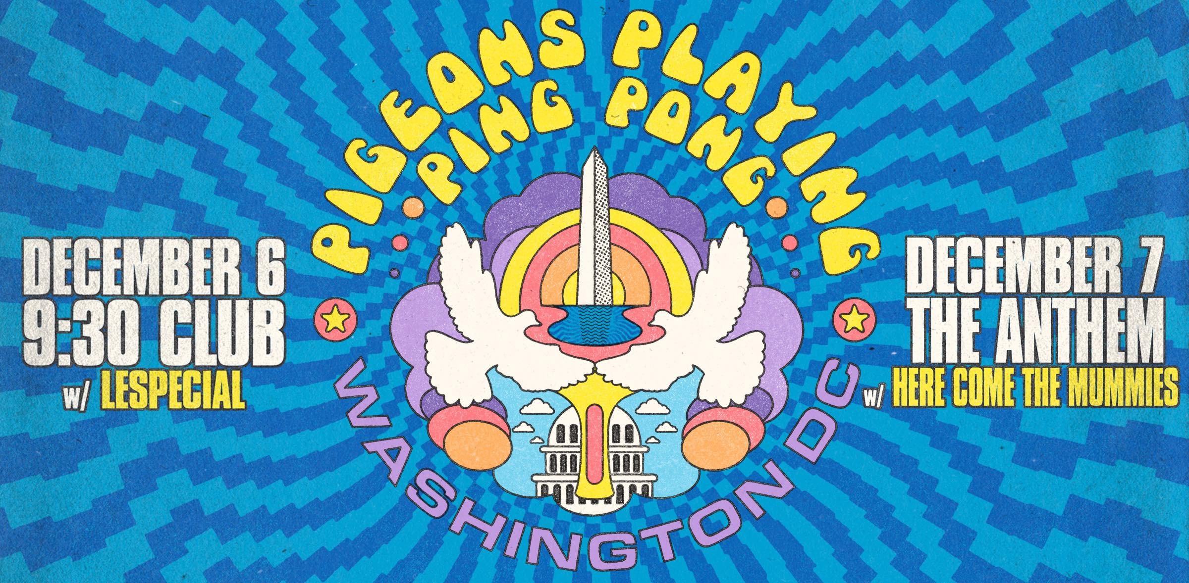Show Preview: Pigeons Playing Ping Pong Take on DC December 6th & 7th