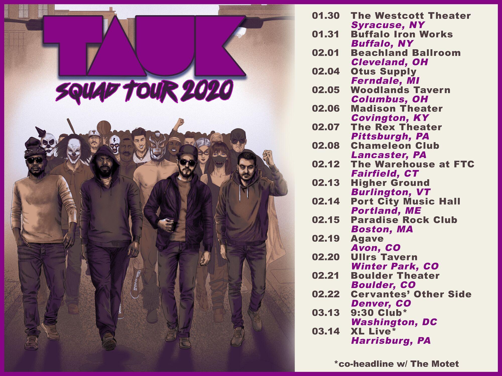 """TAUK Announces Winter """"Squad Tour 2020 – Part 1"""""""