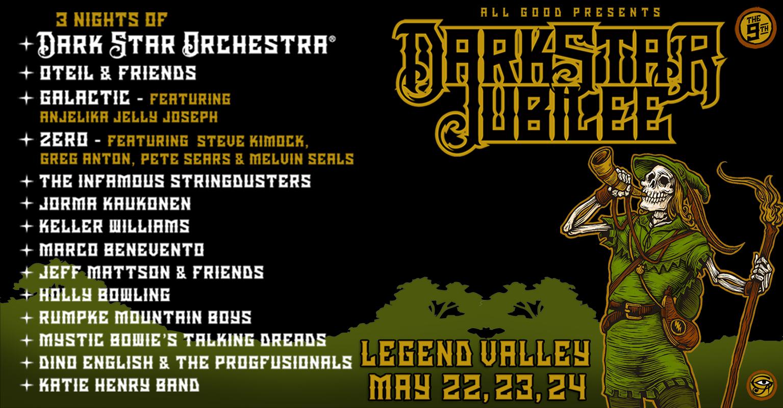 Dark Star Jubilee 2020 Lineup Announced