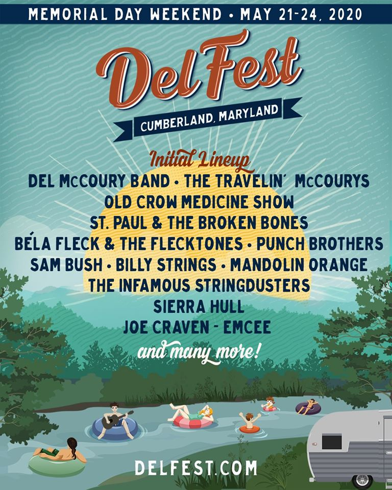 DelFest Announces Initial Lineup for 2020 May 21-24 in Cumberland, MD