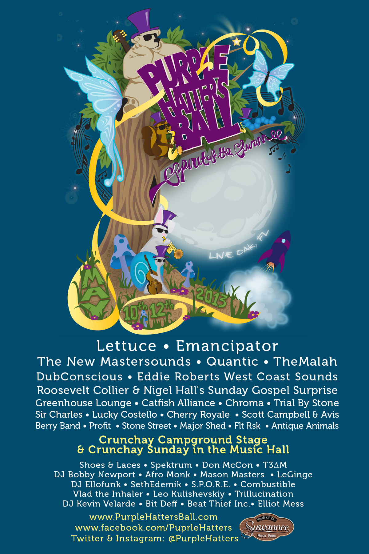 Big Announcements for Purple Hatter's Ball, May 10-12, Live Oak, FL