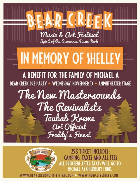 Bear Creek Music & Art Festival Announces Benefit in Memory of Shelley Allegretto