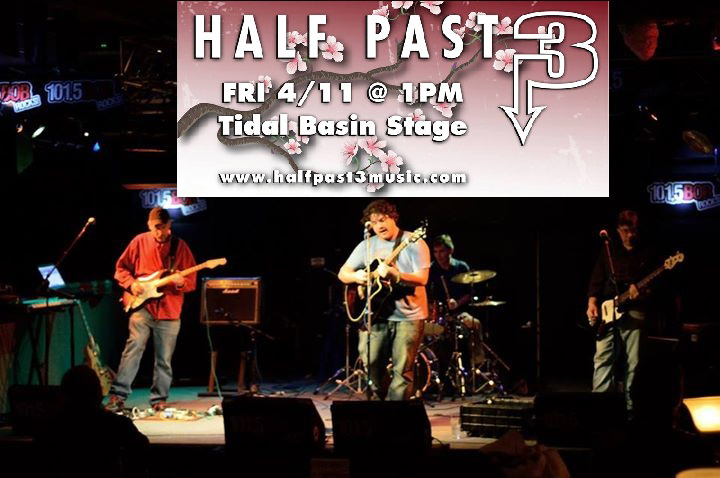 Half Past 3 Band to play DC's National Cherry Blossom Festival