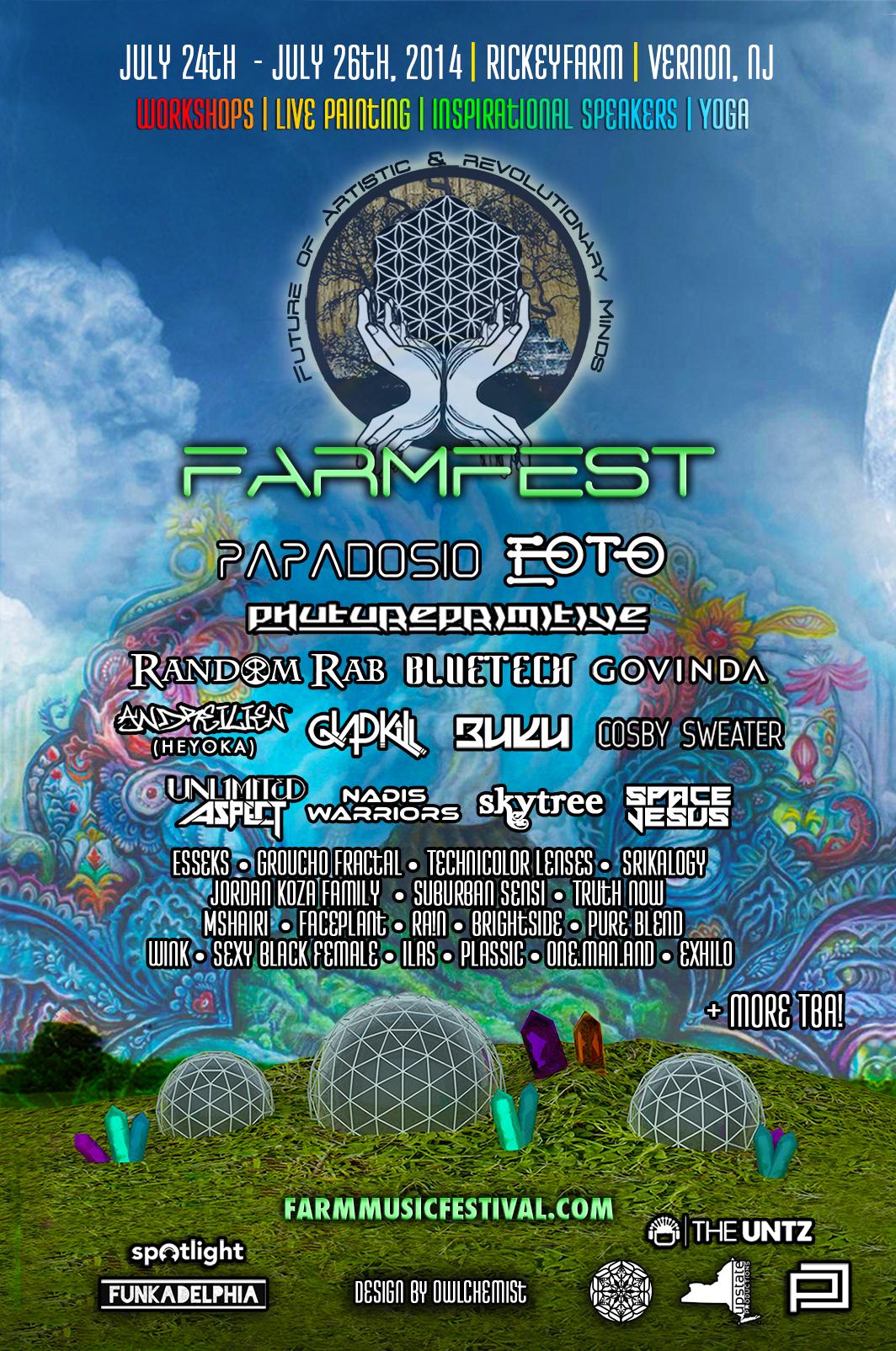 Farm Fest July 24th-26th Vernon, NJ Preview