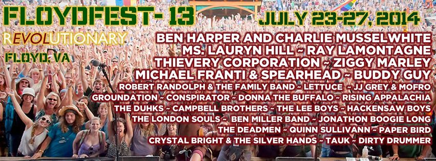 "FloydFest Celebrates 13th Year with ""Revolutionary"" Line-up & Streamlined Logistics"