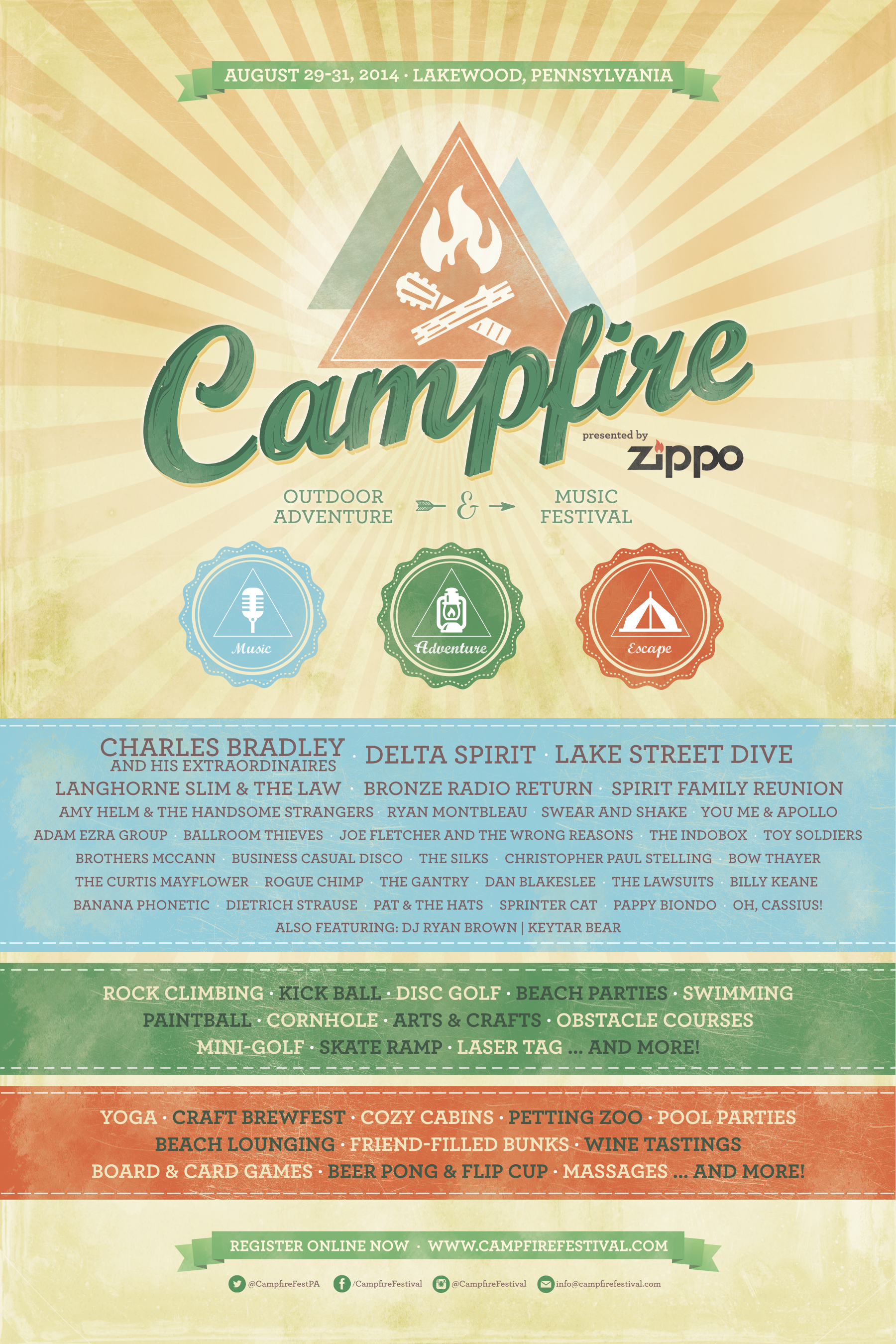 Campfire Outdoor Adventure and Music Festival Announces Fall Lineup