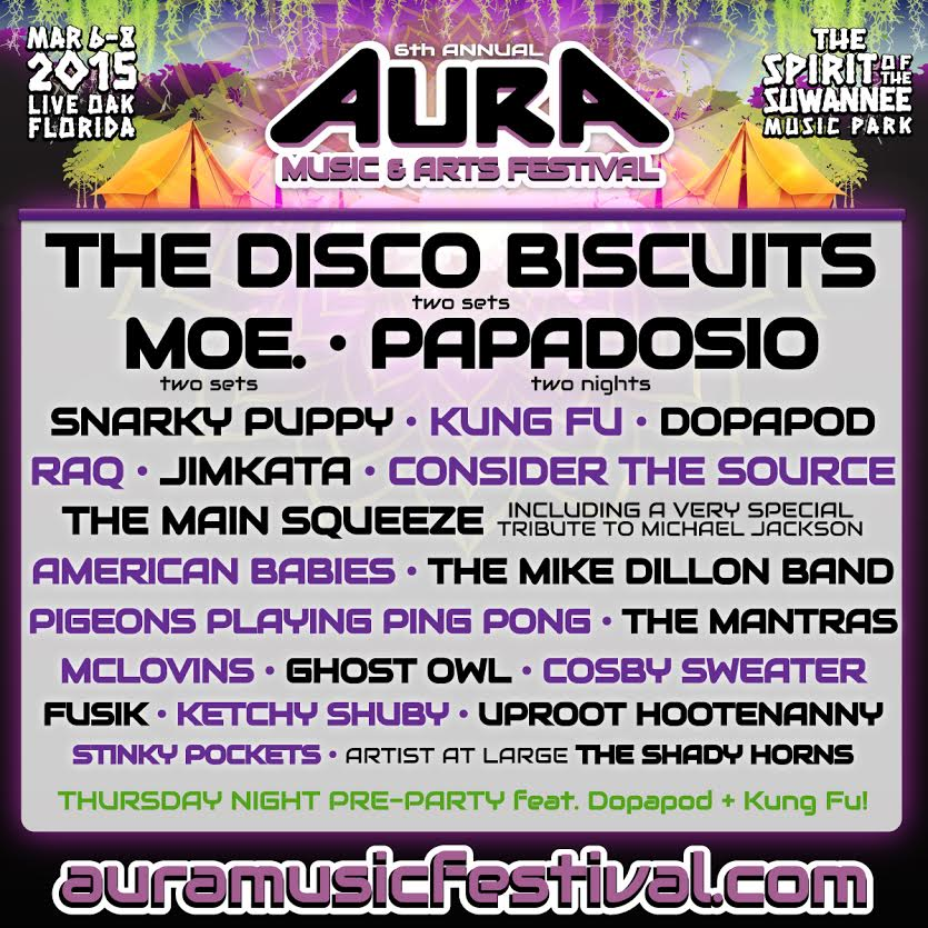 SIXTH ANNUAL AURA MUSIC & ARTS FESTIVAL ADDS MOE. & MORE ARTISTS