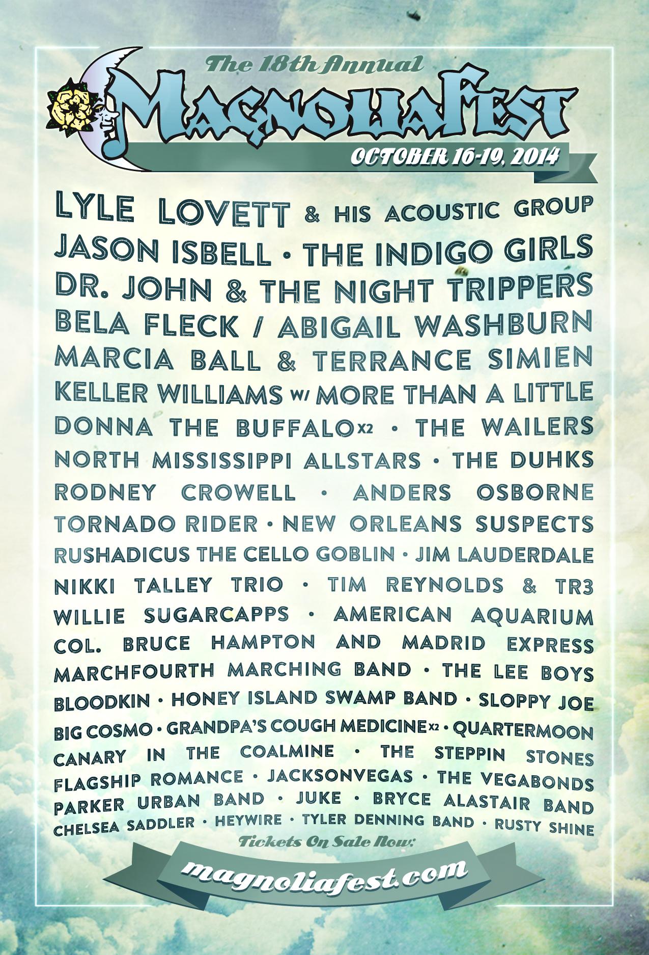 Magnolia Fest 2014 Oct. 16-19, Live Oak, FL