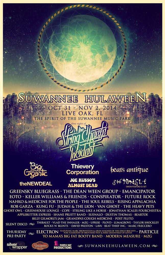 THE STRING CHEESE INCIDENT'S SUWANNEE HULAWEEN UNVEILS SCHEDULE!