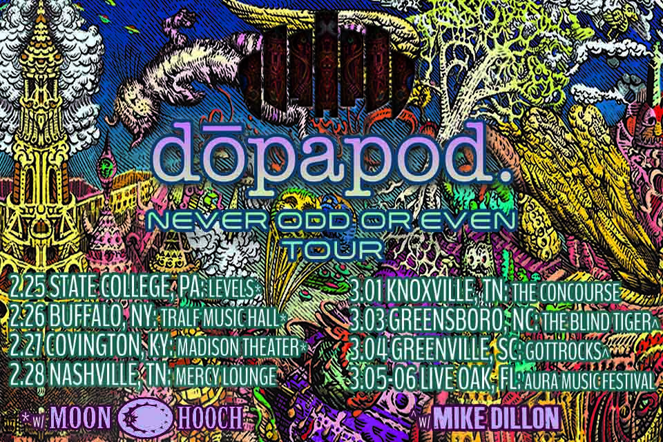 Dopapod Announces First Leg of Winter Tour Leading to AURA