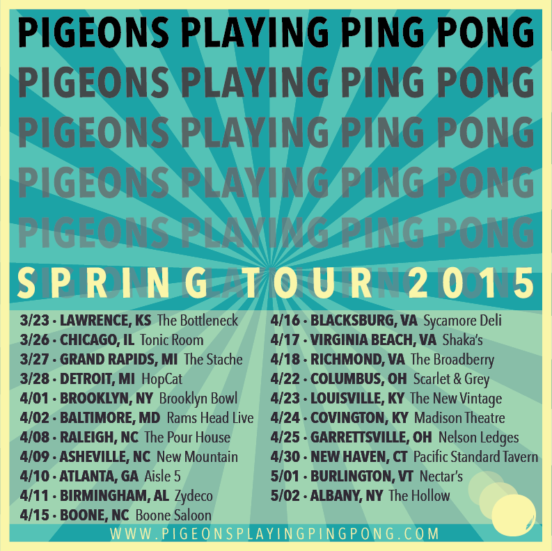 Pigeons Playing Ping Pong Announces Spring Tour Dates