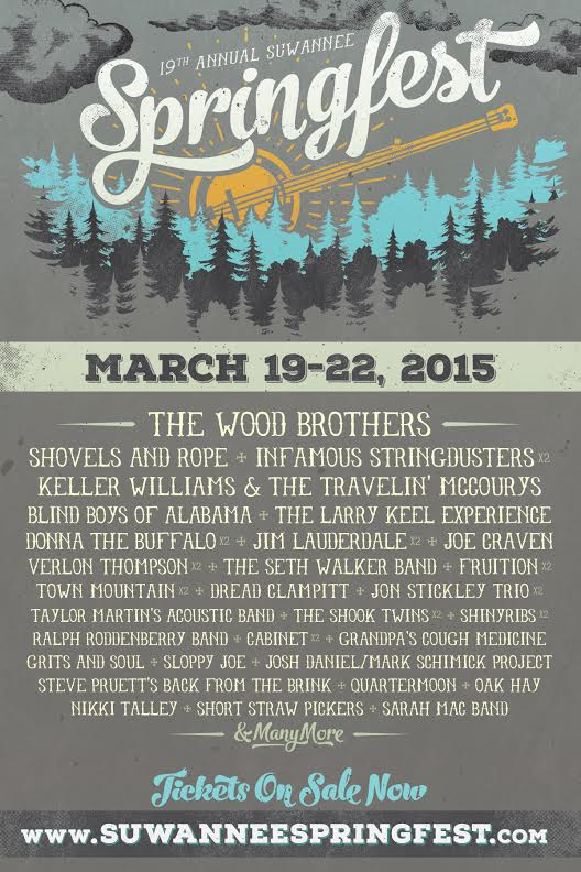 The 19th Suwannee Springfest Announces Initial Lineup