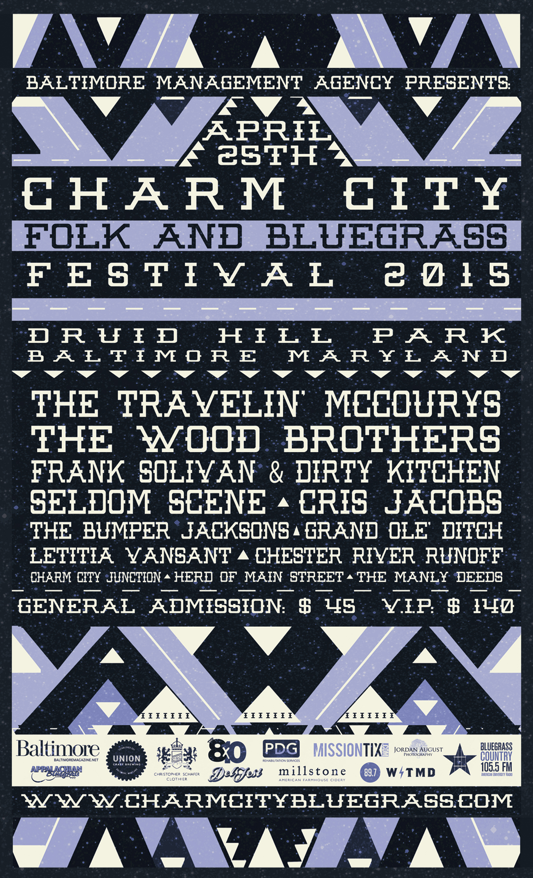 CHARM CITY FOLK AND BLUEGRASS FESTIVAL ANNOUNCES FULL LINEUP