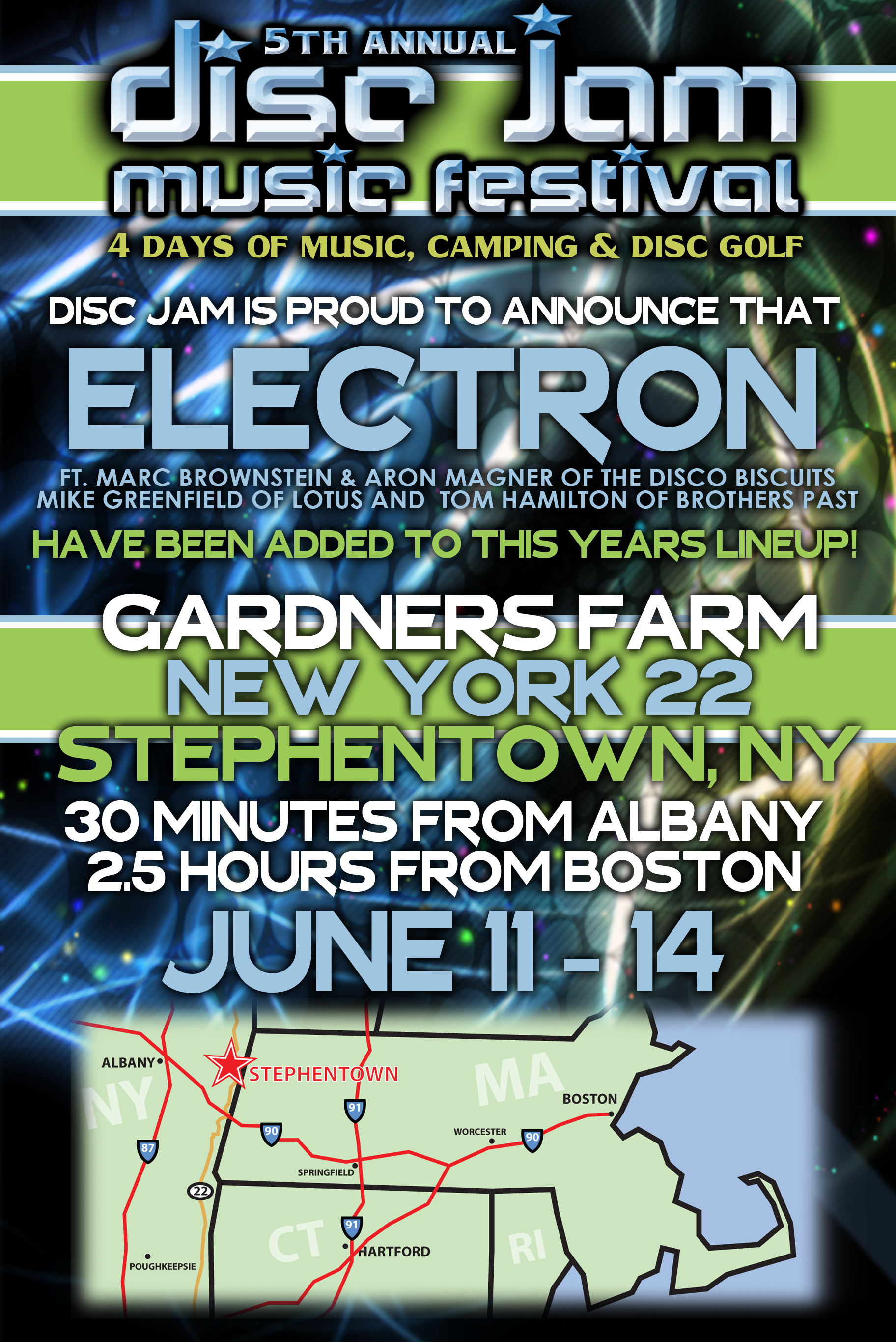 Disc Jam Announces Change of Location, Electron Added to Lineup