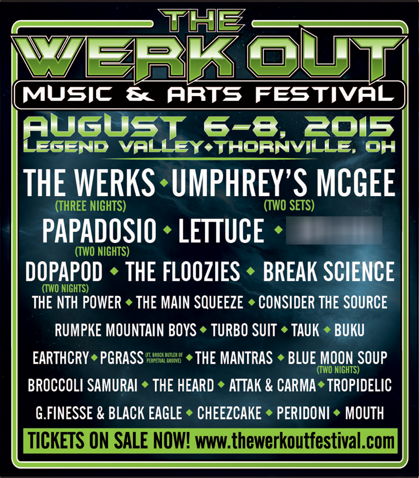 Umphrey's McGee Join The Werks x3, Papadosio x2 and Dopapod x2 to Headline The Werk Out Music & Arts Festival