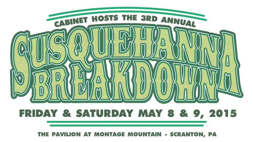 Cabinet's 3rd Annual Susquehanna Breakdown Music Festival: Schedule Announced, Line Up Finalized