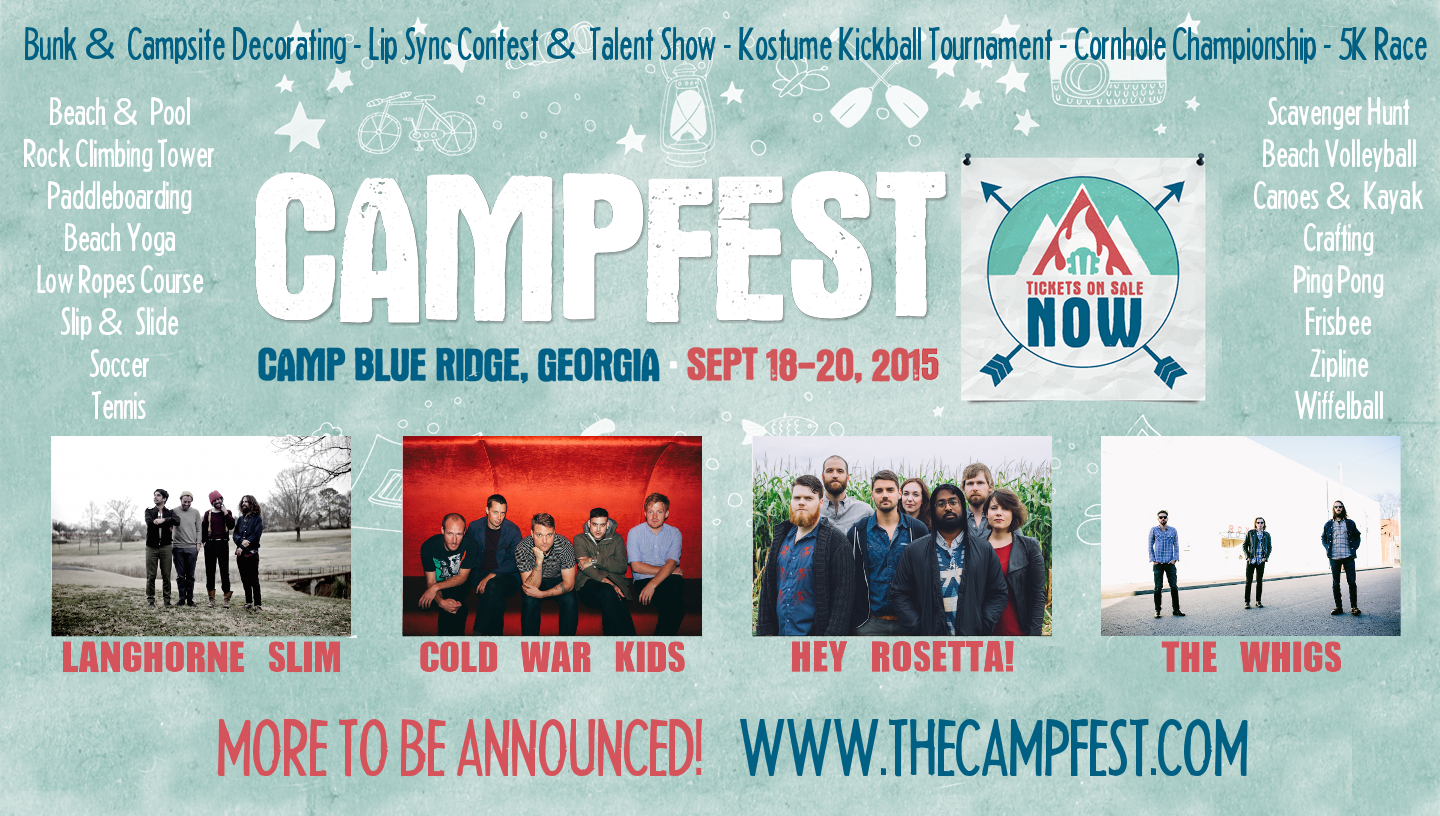 Inaugural Campfest Announces Dates and Location September 18 – 20, 2015 in Mountain City, Georgia