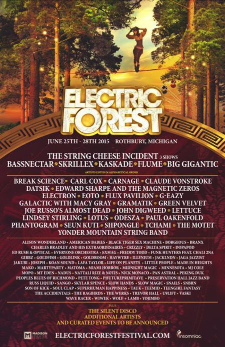 Electric Forest Preview June 25-28, 2015
